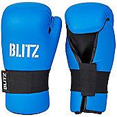Blitz - PU Semi Contact Open Palm Gloves - Blue