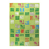 Esprit Cuadros Green Woven Rug - 133 cm x 200 cm (4 ft 4 in x 6 ft 7 in)