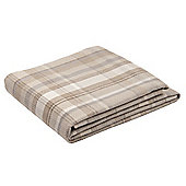 Natural & Grey 130 x 200 Wool Look Woven Check Large Throw