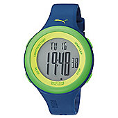 Puma Gents Fit Digital Blue Resin Sport Strap Watch PU910961007