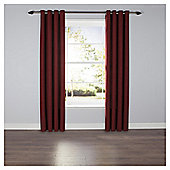 Textured Plain Eyelet Curtains - Red