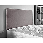 ValuFurniture Doll Chenille Fabric Headboard - Silver - Double 4ft6