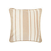 Linea Stripe Cotton Cushion, Latte