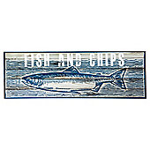 Fish & Chips Wall Plaque 60 x 20cm