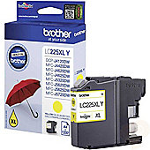 Brother LC225XL High Yield Inkjet Cartridge (Yellow) 1,200 Page Yield