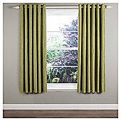 """Ripple Eyelet Curtains W168xL183cm (66x72""""), Green"""