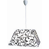 Naeve Leuchten Trixi 6 Light Pendent in White and Black