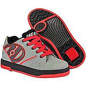 Heelys Propel 2.0 Grey/Red/Black Kids Heely Shoe - Grey