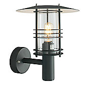Norlys Stockholm 38cm Outdoor Wall Lantern - Black