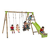Plum Silverback Wooden Pole Swing Set