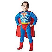 Metallic Chest Superman - Child Costume 5-6 years