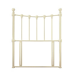 Serene Furnishings Marseilles Headboard - Single - Glossy Ivory
