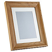 "Tesco Solid Oak Frame 8""x10""/5""x7"" with Mount"