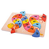 Bigjigs Toys BJ517 Snake Counting Puzzle
