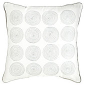 Tesco Embroidered Spirals Grey Cushion