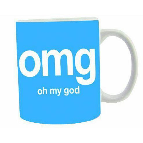 Text Speak Mugs - OMG
