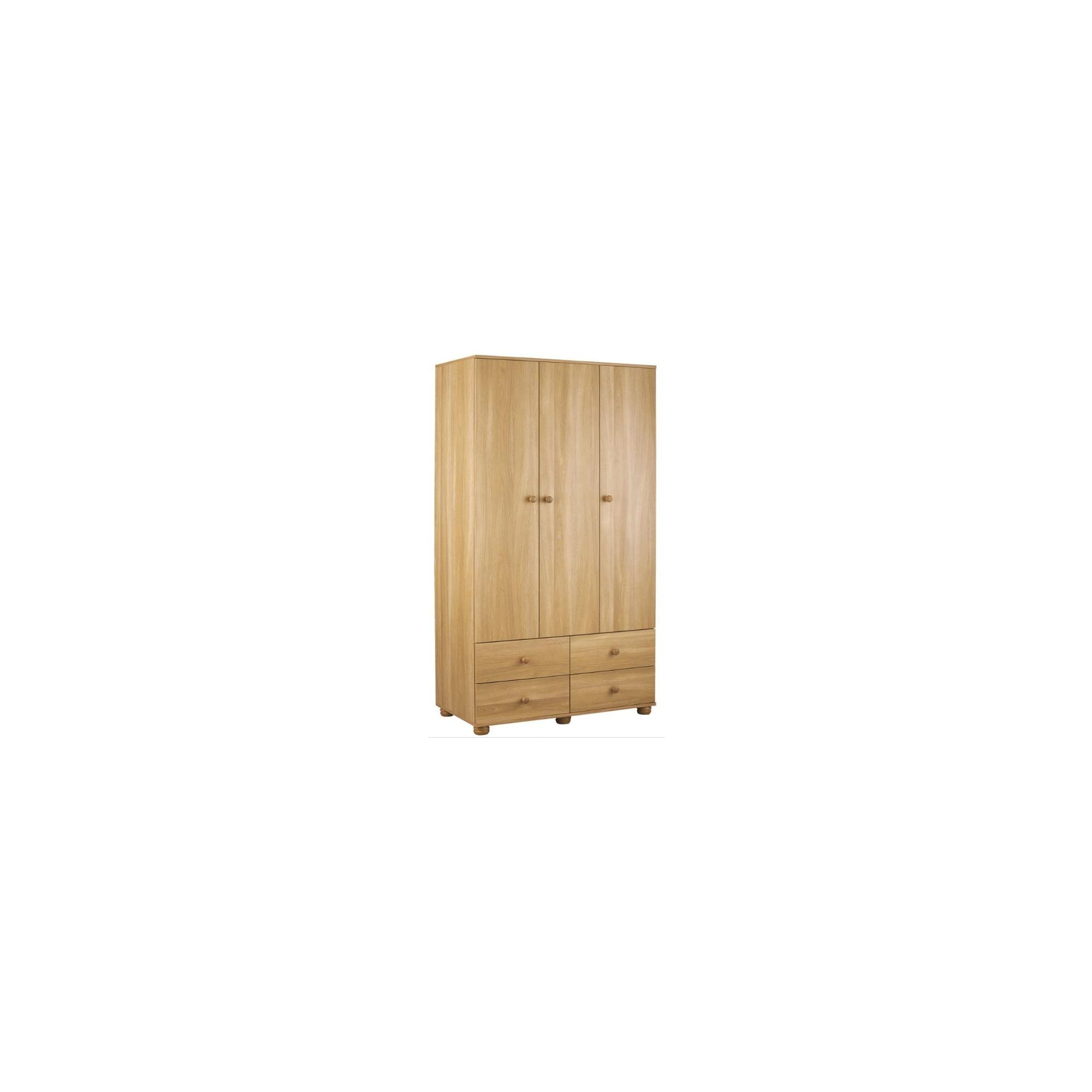 Urbane Designs Dorset 3 Door 4 Drawer Wardrobe - New Oak at Tesco Direct