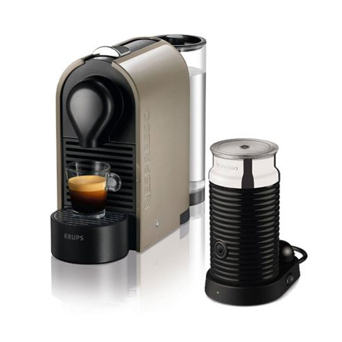 buy krups nespresso u coffee machine brown with. Black Bedroom Furniture Sets. Home Design Ideas