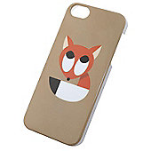 Tortoise™ Hard Protective Case, iPhone 5/5S. Beige with Fox Design