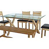 Home Zone Valencia Dining Table