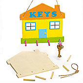 Wooden House Key Holders (Pack of 3)