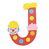 Tatiri Crazy Clown Letter J ((Red) Spots)
