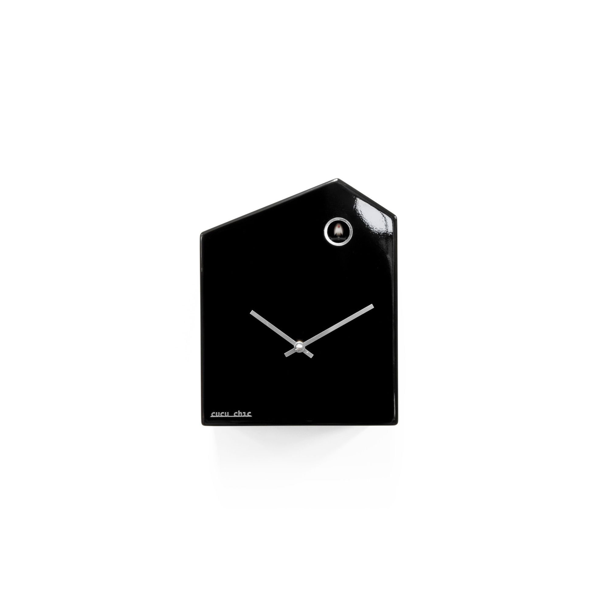 Progetti Cucu Chic Cuckoo Wall Clock - Gloss Black at Tesco Direct