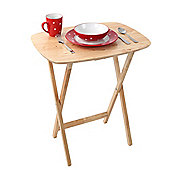 Premier Housewares Oval Snack Table - Rubberwood