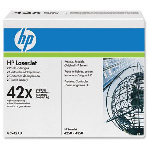 HP Dual Pack Black Cartridge for Laser Jet 4250/4350 Printers