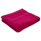 Tesco Hygro 100% Cotton Hand Towel, Fuschia