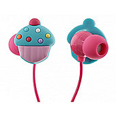 Cupcake In-Ear Headphones With Mic Trendz Packaging