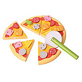 Bigjigs Toys BJ315 Wooden Play Food Slicing Stuffed Crust Pizza
