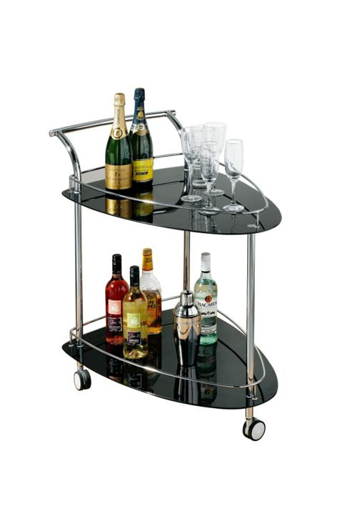 Premier Housewares Two Tier Triangular Serving Trolley