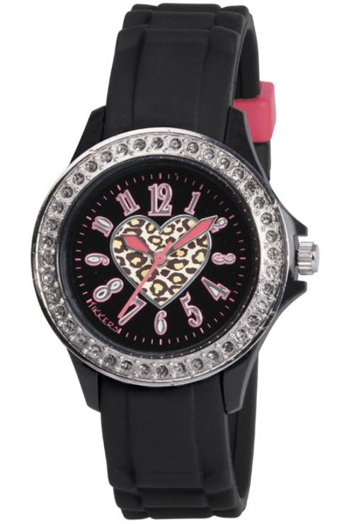Tikkers Unisex Rubber Stone Set Watch TK0048