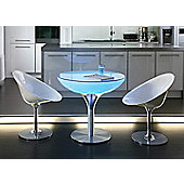 Moree Lounge Indoor Table with Glass Top - 55cm