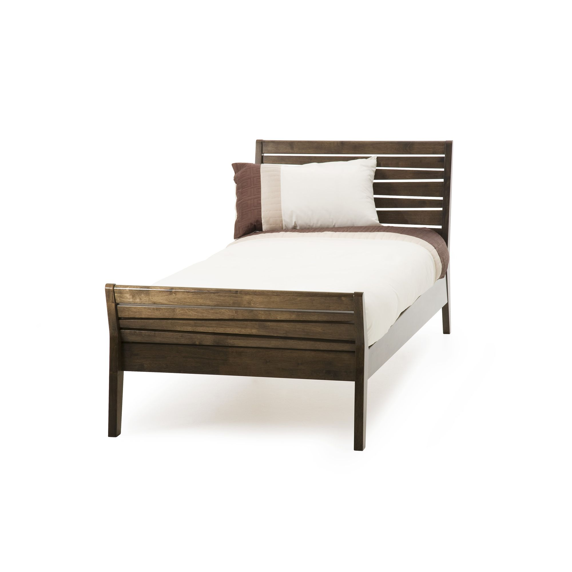 Serene Furnishings Zahra Bed - Single - Walnut at Tesco Direct