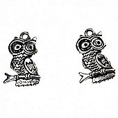 Owl Charm - Silver - 2 Pack