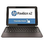 HP x2 10-k008na 10.1-inch Touchscreen 2-in-1 Laptop, Intel Atom, 2GB RAM, 32GB eMMC - Grey + Purple Keyboard Cover
