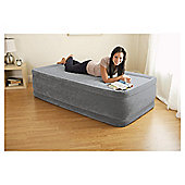 Intex Twin Comfort Raised Airbed with Built-in Pump