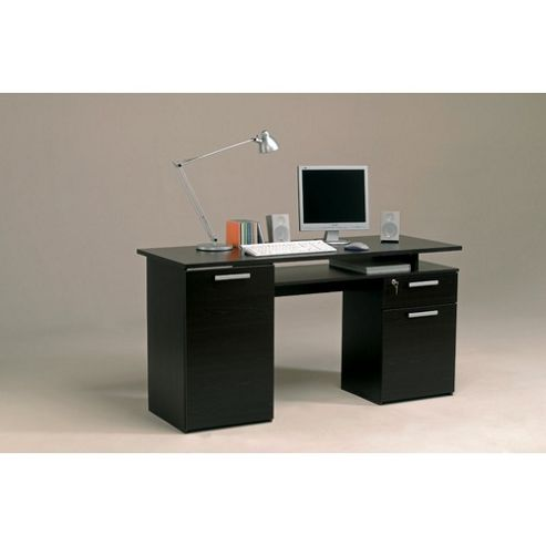 Buy parisot minister computer desk in wenge from our office desks tables range tesco - Tesco office desk ...
