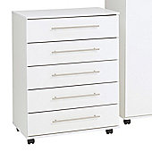 Ideal Furniture New York 5 Drawer Chest - White
