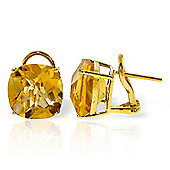 QP Jewellers 7.20ct Citrine Lavish Stud Earrings in 14K Gold