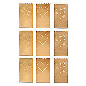 Three Pack Set of Flame Retardant Paper Tealight / Candle Bags (9)