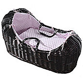 Isabella Alicia Dark Izzy-Pod Moses Basket (Dimple Pink)