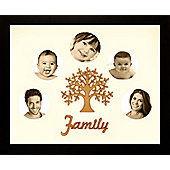 Large Family Photo Tree of Life Picture Frame Black 50x40cm (5)