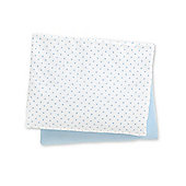 Mothercare Jersey Fitted Cot Sheets- 2 Pack White - Blue
