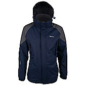 Tumult Mens Long Lightweight Waterproof Breathable Jacket - Blue