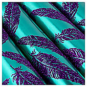 Tesco Glittered Feather Christmas Wrapping Paper, 3m