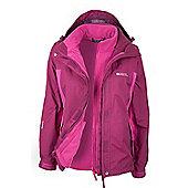 Mountain Warehouse Storm 3 in 1 Womens Waterproof Jacket - Pink