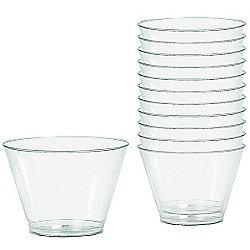 Clear Plastic Tumbler Glasses - 255ml